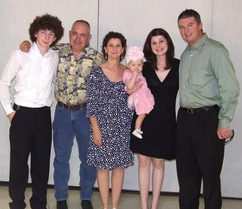 family picture from kory's senior recital